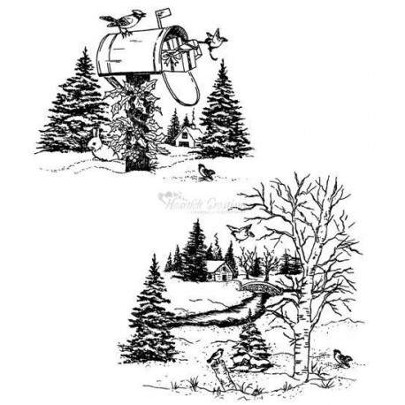 HCPC3357 / Snowy Window Scene PreCut Set