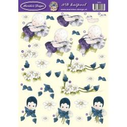 2432 / meisje en bloem Marieke Design