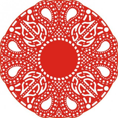 DL109 / Celtic Fire Doily