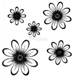HCPC3318 / Daisy Patch Flowers stempels