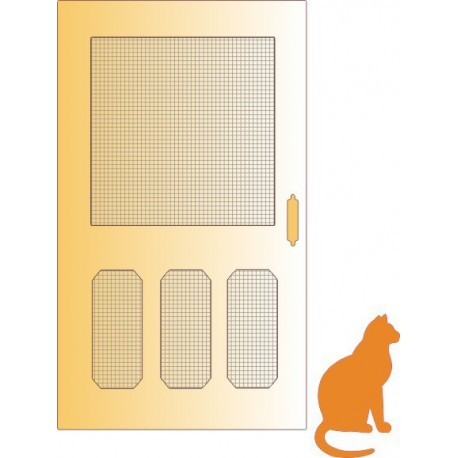 A2 164 / Screen Door w/Cat