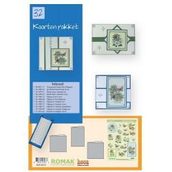 32 / Romak kaarten pakket 32 Bloemen