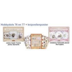 76 + 77 / combi pakket hobbydols boekjes + poster