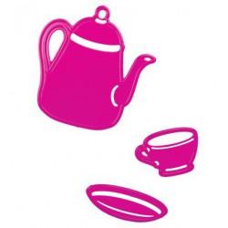 6002-0117 / Koffiepot klein en kop/schotel klein