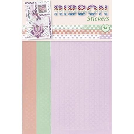 3.9877 / Ribbon stickers vlinders
