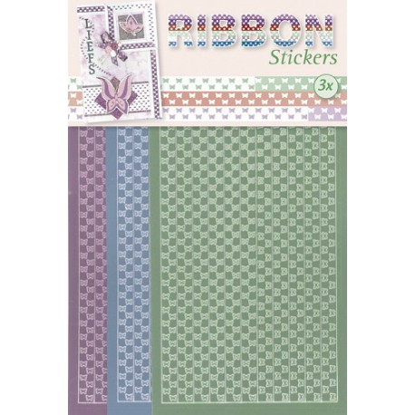 3.9876 / Ribbon stickers vlinders