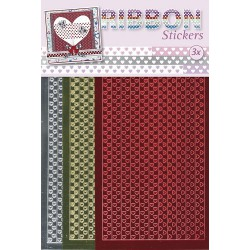 3.9870 / Ribbon stickers Hearts