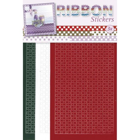 3.9867 / Ribbon stickers square