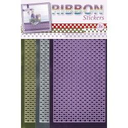 3.9866 / Ribbon stickers squares