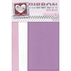 3.9871 / Ribbon stickers Hearts
