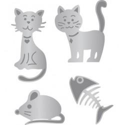 1201-0001 / Katten,Vis en Muis Lin&Lene