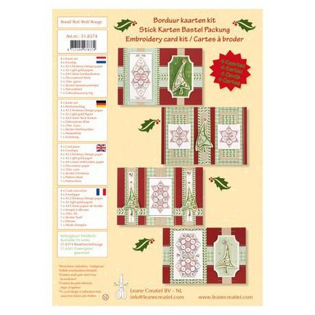 LCR51.8374 / Kaarten borduur kit rood