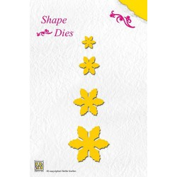SD004 / Shape Die Christmas Flowers
