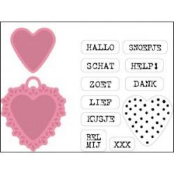COL1306 / Set candy hearts NL - mallen en stempels