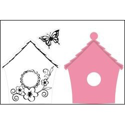 COL1308 / Set Birdhouse flowers
