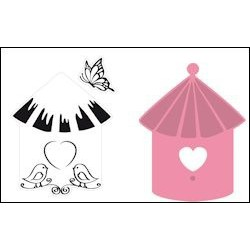 COL1310 / Set birdhouse Birds