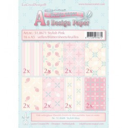 51.8671 / design papier stylish pink
