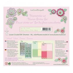 LCR51.7117 / Bloem sticker papier set, Roze