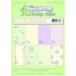 51.8817 / design papier Ribbons & cupcakes