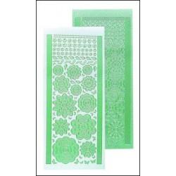 61.7193 / Bloem stickers, pearl green