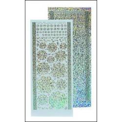 61.7209 / Bloem stickers, diamond silver