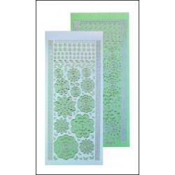 61.7216 / Bloem stickers, green / silver