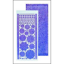 61.7223 / Bloem stickers, diamond purple
