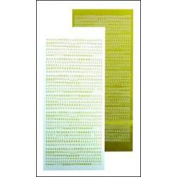 61.9067 / Alfabet stickers, mirror yellow