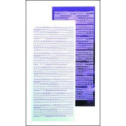 61.9074 / Alfabet stickers, mirror violett