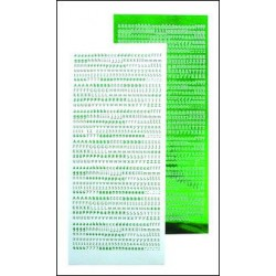61.9081 / Alfabet stickers, mirror green