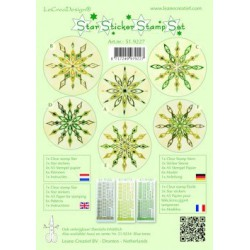 LCR51.9227 /Star sticker stamp set green
