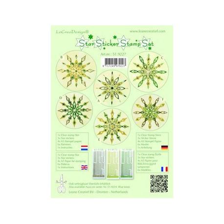 LCR51.9227 /Star sticker stamp set green