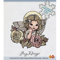 ADST10001 / Clear Stamp - Angel with roses