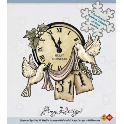 ADST10002 / Clear Stamp - Clock with doves