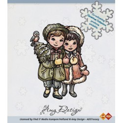 ADST10003 / Clear Stamp - Christmas couple