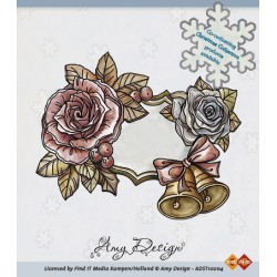 ADST10004 / Clear Stamp - Roses and bells