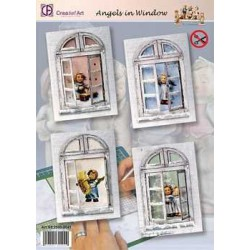 2530-0041 / Pakket Hummels angels in window