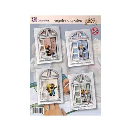 2530-0041 / Pakket Hummels angels in window
