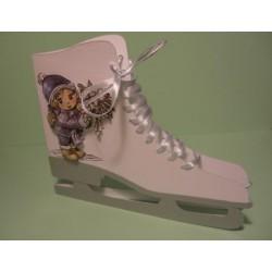 schaats01 / Schaatskaart wit