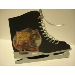 schaats02 / Schaatskaart zwart