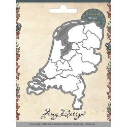 ADD10004 / landkaart netherlands