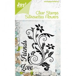 6410-0091 / stamp flowers 2 love friends