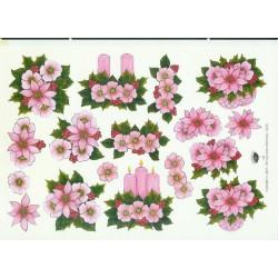 Kerst Bloemstukjes Roze Nel van Veen 2216