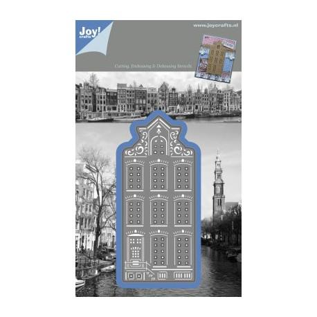 1201-0085 / Snij- embossing en debossing stencil huisje punt