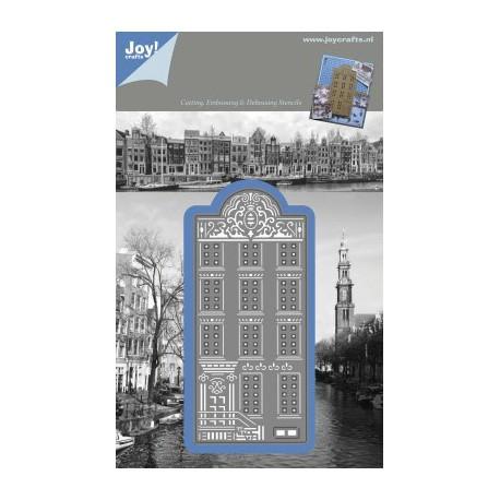 1201-0086 / Snij- embossing en debossing stencil huisje punt