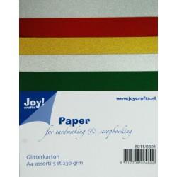 8011-0601 / glitter karton A4 set 1