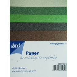 8011-0604 / glitter karton A4 set 4