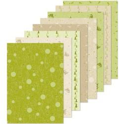 LCR51.0041 / Christmas design papier groen/beige 16 x A5