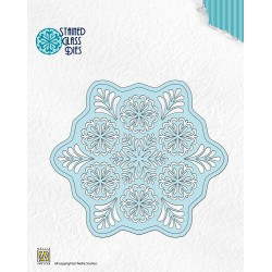 SGD002 / stained glass die fantasy flower 2