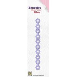 BBD001 / Bracelet border die flowers